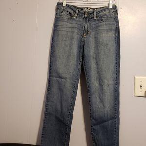 Levi's Denizen modern straight crop blue Jean's 6